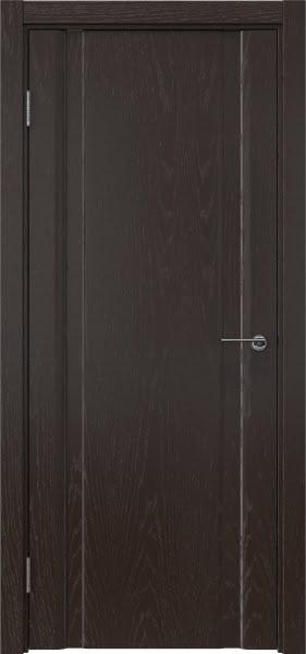 Межкомнатная дверь GM016 (шпон ясень темный, глухая)