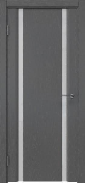 Межкомнатная дверь GM016 (шпон ясень серый / триплекс белый)