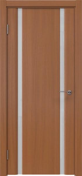 Межкомнатная дверь GM016 (шпон анегри / триплекс белый)
