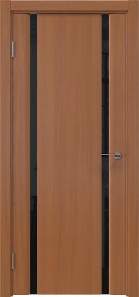 Межкомнатная дверь GM016 (шпон анегри / триплекс черный)