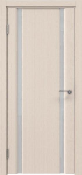 Межкомнатная дверь GM016 (шпон беленый дуб / триплекс белый)