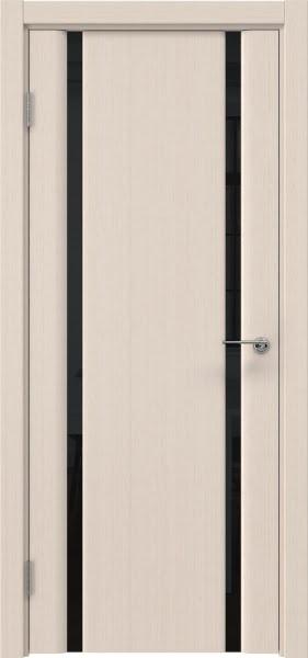 Межкомнатная дверь GM016 (шпон беленый дуб / триплекс черный)