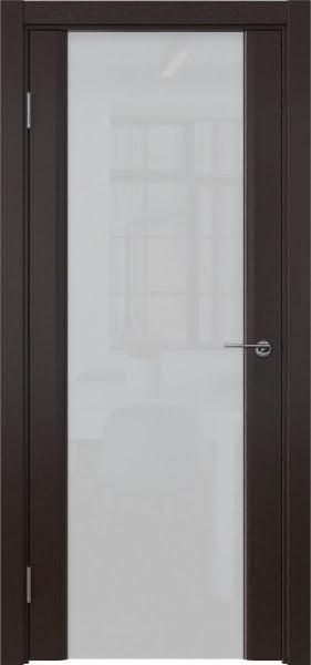 Межкомнатная дверь GM017 (шпон венге / триплекс белый)