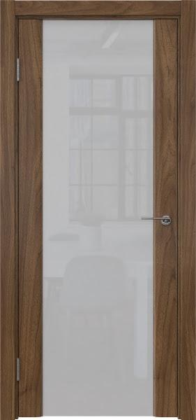 Межкомнатная дверь GM017 (шпон американский орех / триплекс белый)