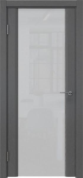 Межкомнатная дверь GM017 (шпон ясень серый / триплекс белый)