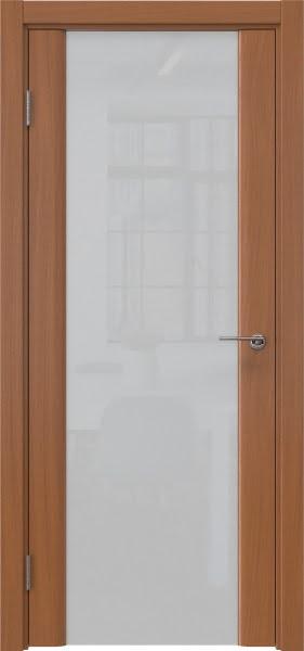 Межкомнатная дверь GM017 (шпон анегри / триплекс белый)