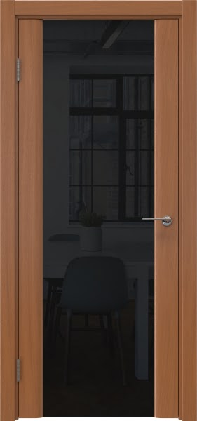 Межкомнатная дверь GM017 (шпон анегри / триплекс черный)