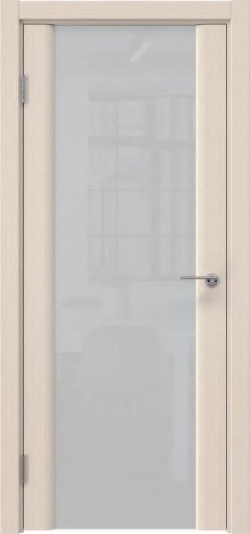 Межкомнатная дверь GM017 (шпон беленый дуб / триплекс белый)