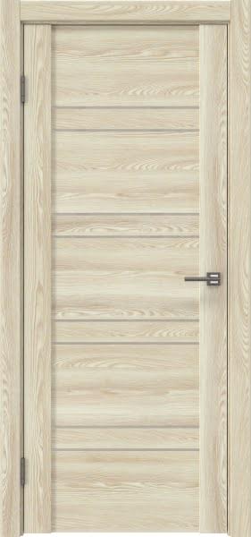 Межкомнатная дверь GM018 (экошпон «клен экрю» / лакобель бежевый)