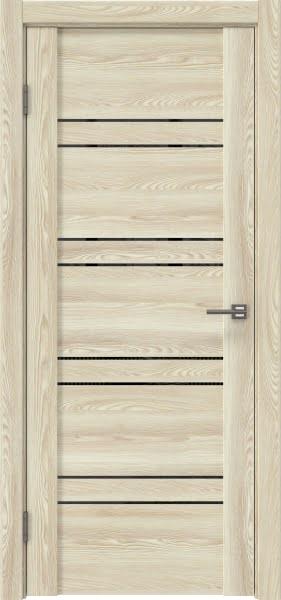 Межкомнатная дверь GM018 (экошпон «клен экрю» / лакобель черный)