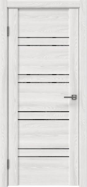 Межкомнатная дверь GM018 (экошпон «ясень айс» / зеркало тонированное)