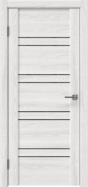 Межкомнатная дверь GM018 (экошпон «ясень айс» / лакобель серый)