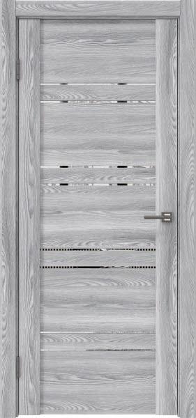 Межкомнатная дверь GM018 (экошпон «ясень грей» / зеркало)