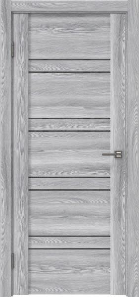 Межкомнатная дверь GM018 (экошпон «ясень грей» / лакобель серый)