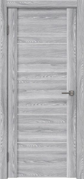 Межкомнатная дверь GM018 (экошпон «ясень грей» / лакобель белый)