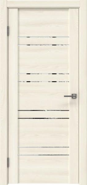 Межкомнатная дверь GM018 (экошпон «ясень крем» / зеркало)
