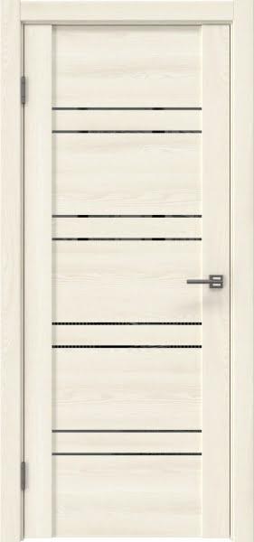 Межкомнатная дверь GM018 (экошпон «ясень крем» / зеркало тонированное)