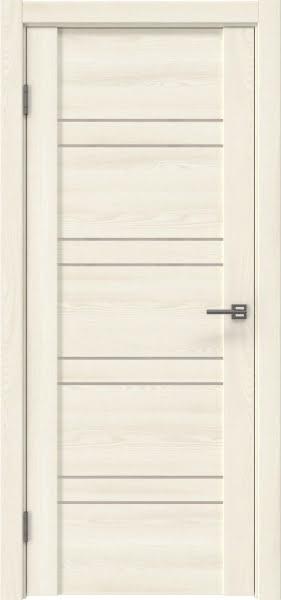Межкомнатная дверь GM018 (экошпон «ясень крем» / лакобель бежевый)