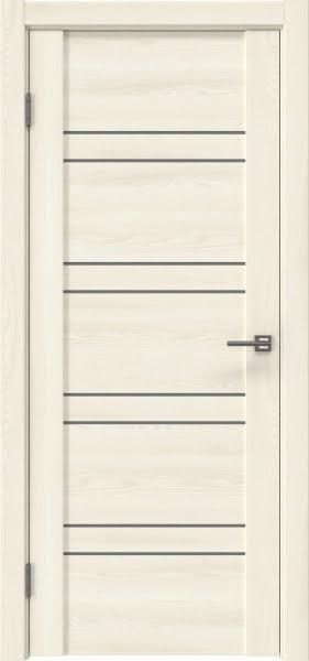 Межкомнатная дверь GM018 (экошпон «ясень крем» / лакобель серый)