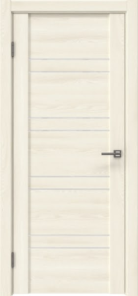 Межкомнатная дверь GM018 (экошпон «ясень крем» / лакобель белый)