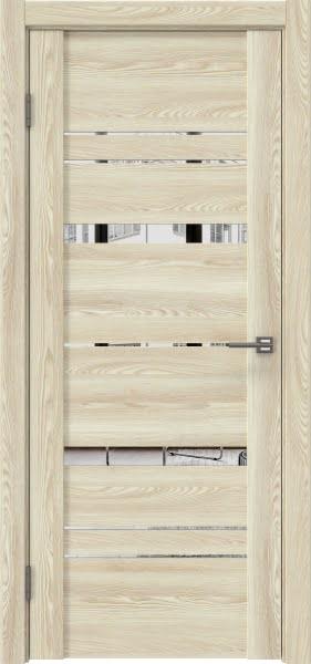 Межкомнатная дверь GM019 (экошпон «клен экрю» / зеркало)