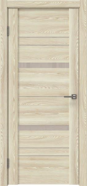 Межкомнатная дверь GM019 (экошпон «клен экрю» / лакобель бежевый)