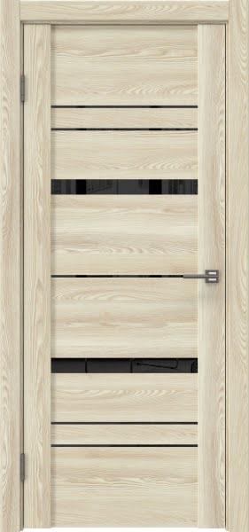 Межкомнатная дверь GM019 (экошпон «клен экрю» / лакобель черный)