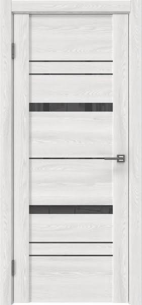 Межкомнатная дверь GM019 (экошпон «ясень айс» / лакобель серый)