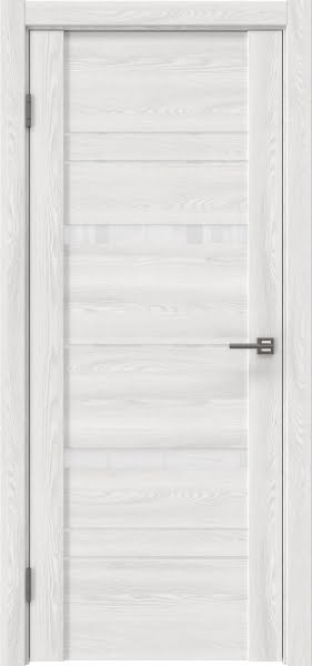 Межкомнатная дверь GM019 (экошпон «ясень айс» / лакобель белый)