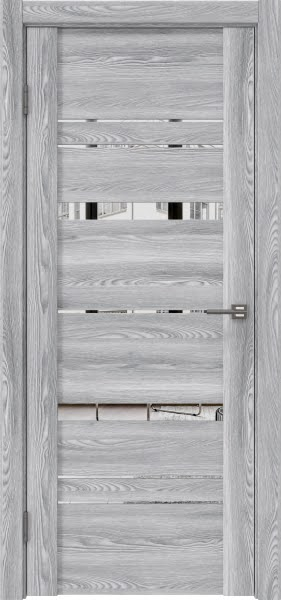 Межкомнатная дверь GM019 (экошпон «ясень грей» / зеркало)
