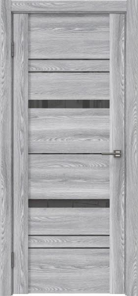 Межкомнатная дверь GM019 (экошпон «ясень грей» / лакобель серый)