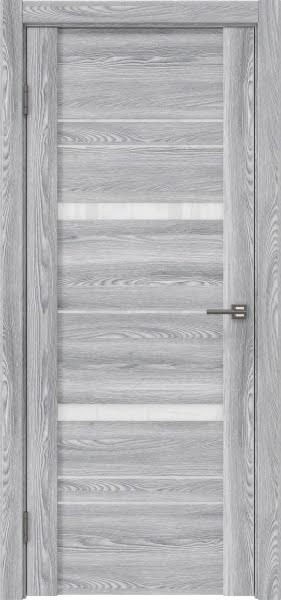 Межкомнатная дверь GM019 (экошпон «ясень грей» / лакобель белый)