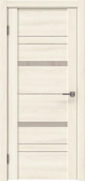 Межкомнатная дверь GM019 (экошпон «ясень крем» / лакобель бежевый)