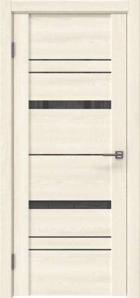 Межкомнатная дверь GM019 (экошпон «ясень крем» / лакобель серый)