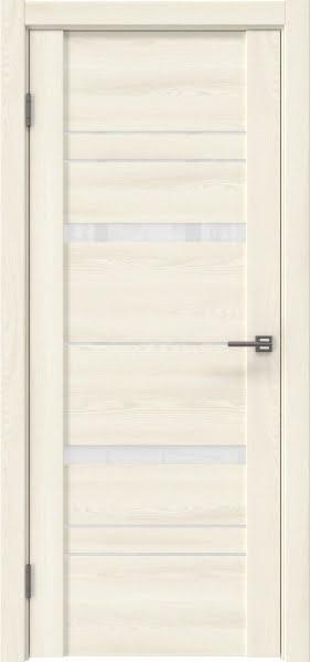 Межкомнатная дверь GM019 (экошпон «ясень крем» / лакобель белый)