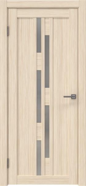 Межкомнатная дверь RM001 (экошпон «беленый дуб FL», матовое стекло)
