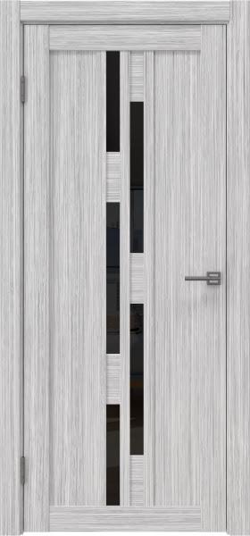 Межкомнатная дверь RM001 (экошпон «серый дуб FL», лакобель черный)