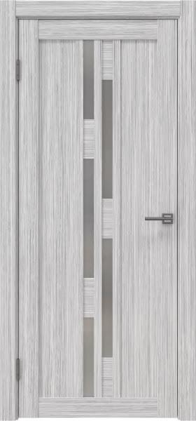 Межкомнатная дверь RM001 (экошпон «серый дуб FL», матовое стекло)