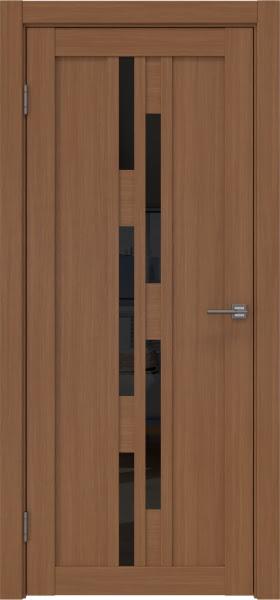 Межкомнатная дверь RM001 (экошпон «орех FL», лакобель черный)