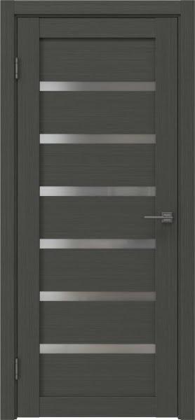 Межкомнатная дверь RM002 (экошпон «грей» / матовое стекло)