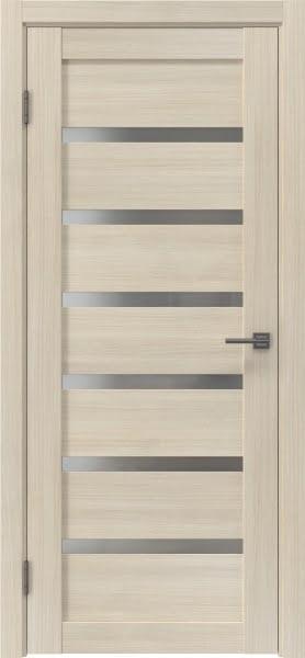 Межкомнатная дверь RM002 (экошпон «капучино» / матовое стекло)