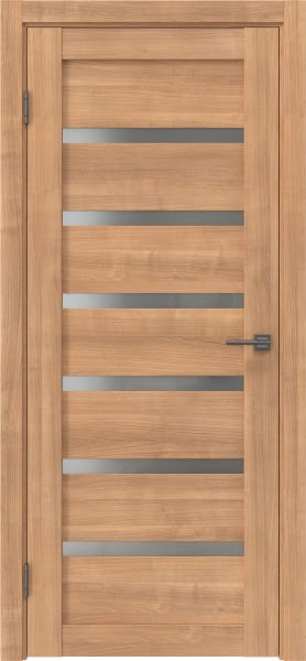 Межкомнатная дверь RM002 (экошпон «миндаль» / матовое стекло)