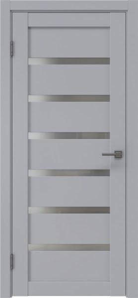 Межкомнатная дверь RM002 (экошпон серый / матовое стекло)