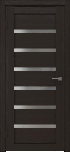 Межкомнатная дверь RM002 (экошпон «венге» / матовое стекло)