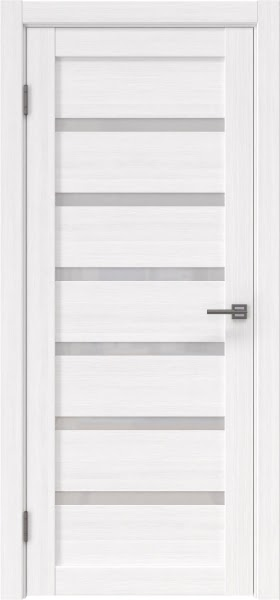 Межкомнатная дверь RM002 (экошпон «белый FL», лакобель белый)