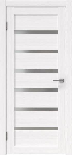 Межкомнатная дверь RM002 (экошпон «белый FL», матовое стекло)
