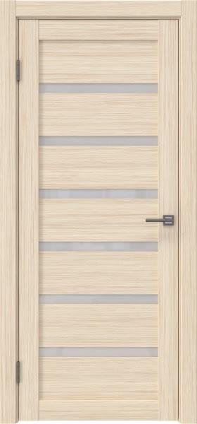 Межкомнатная дверь RM002 (экошпон «беленый дуб FL», лакобель белый)