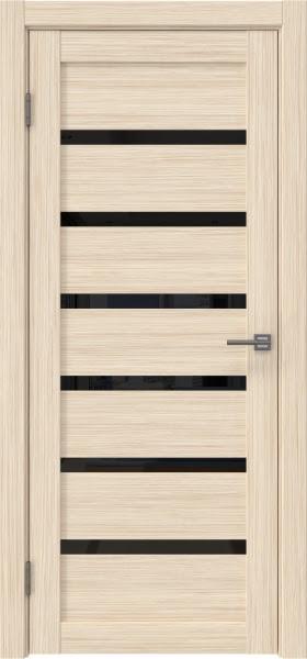 Межкомнатная дверь RM002 (экошпон «беленый дуб FL», лакобель черный)