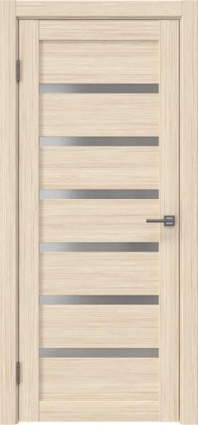 Межкомнатная дверь RM002 (экошпон «беленый дуб FL», матовое стекло)