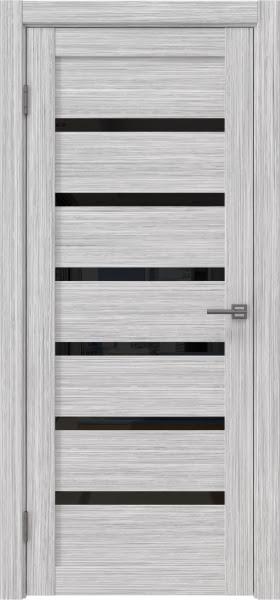 Межкомнатная дверь RM002 (экошпон «серый дуб FL», лакобель черный)